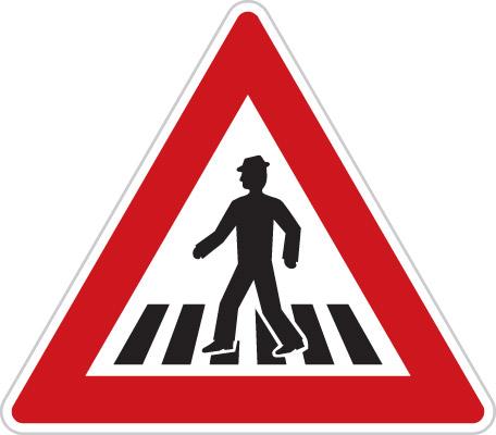 A11 - výstražná značka - Pozor, přechod pro chodce
